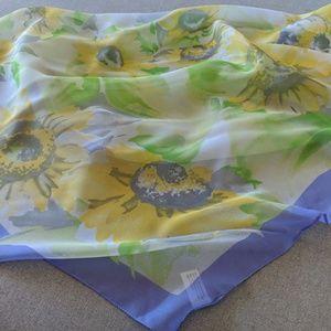 Sunflower sheer scarf